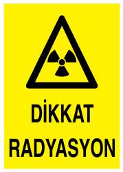 Propazar - Dikkat Radyasyon İş Güvenliği Levhası - Tabelası