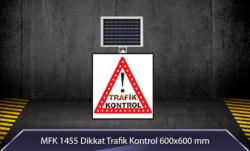 MFK - Dikkat Trafik Kontrol Akülü Solar Levha MFK9629