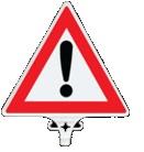 Üstün - Dikkat Ünlem İşaret Uyarı Levhası ÇİFT YÖN - UT 2805
