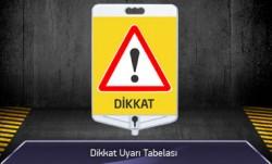 Dikkat Uyarı Tabelası Çift Taraflı MFK9304 - Thumbnail