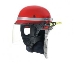 Drager - Drager HPS 7000 İtfaiyeci Bareti Aluminyum Enselikli Kırmızı