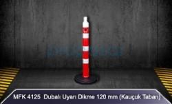 MFK - Dubalı Uyarı Dikme 120mm Kauçuk Tabanlı MFK4125