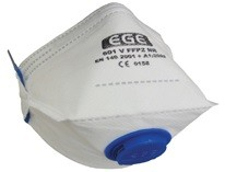 Ege - EGE 601 Ventilli FFP2 Katlanabilir Toz Maskesi