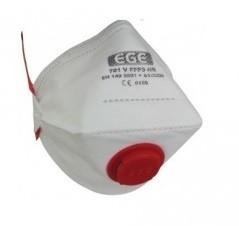 Ege - EGE 701 Ventilli FFP3 Katlanabilir Toz Maskesi