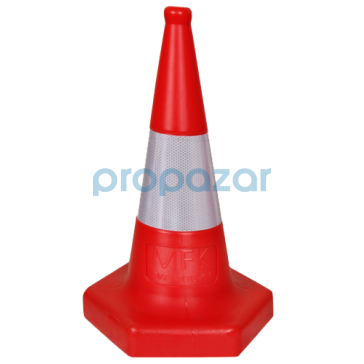 Ekonomik Trafik ve Reklam Konisi 500 mm ( Kauçuk Tabanlı ) MFK3500