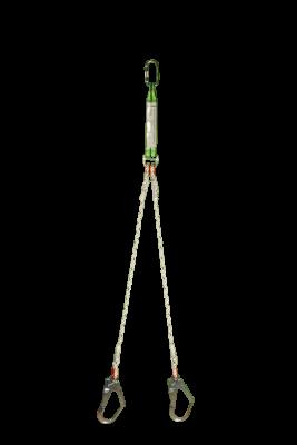 EKS 208-4 Şok Emicili Çift Bacaklı Örme Halat Lanyard