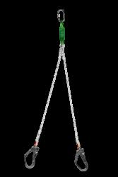 EKS - EKS 216-2 Çift Bacaklı Örme Halat Lanyard