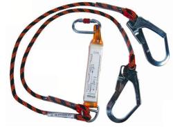 EKS - EKS 242-1 Şok Emicili Çift Bacaklı Dikişli Halatlı Lanyard
