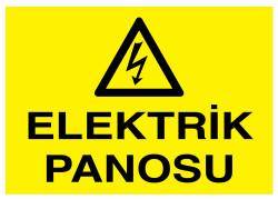 Propazar - Elektrik Panosu İş Güvenliği Levhası - Tabelası