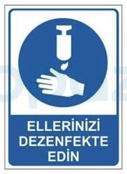 Propazar - Ellerinizi Dezenfekte Ediniz Yapıştırma Sticker