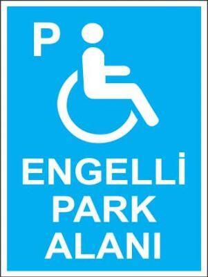 Engelli Park Alanı Levhası - Tabelası