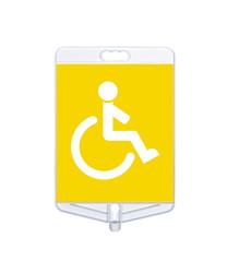 Engelli Park Yeri Tabelası Çift Taraflı MFK9302 - Thumbnail