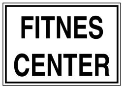 Propazar - Fitnes Center İş Güvenliği Levhası - Tabelası