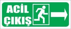 Fotolümenli Acil Çıkış Levhası Sağ Ok - Thumbnail