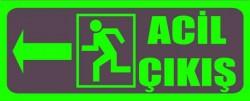 Fotolümenli Acil Çıkış Levhası Sol Ok - Thumbnail