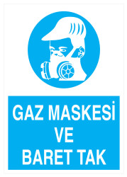 Propazar - Gaz Maskesi Ve Baret Tak İş Güvenliği Levhası - Tabelası