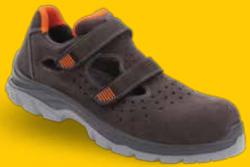 Gripper - Gripper Rio GPR-162 S1 Koyu Gri-Turuncu Spor İş Ayakkabısı