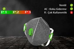 GVS Elipse - GVS Segre P1 Ventilli Katlanabilir ve Aktif Karbonlu Toz Maskesi - F10055