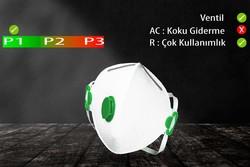 GVS Elipse - GVS Segre P1 Ventilli Katlanabilir ve Yeniden Kullanılabilir Toz Maskesi - F100050