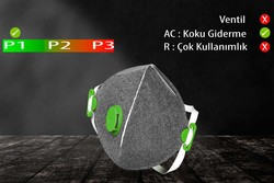 GVS Elipse - GVS Segre P1 Ventilsiz Katlanabilir ve Aktif Karbonlu Toz Maskesi - F10005
