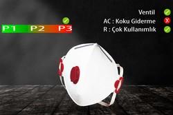 GVS Elipse - GVS Segre P3 Ventilli Katlanabilir ve Yeniden Kullanılabilir Toz Maskesi - F300050