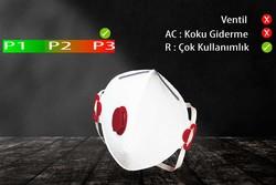 GVS Elipse - GVS Segre P3 Ventilsiz Katlanabilir ve Yeniden Kullanılabilir Toz Maskesi - F30000