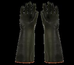 H1-45 Siyah Düz Lateks 45cm Siyah Eldiven - Thumbnail
