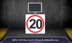 MFK - Hız Limiti 20km/h Akülü Solar Levha MFK 9616