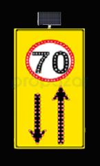 MFK - Hız Limiti 70km/h Geliş Gidiş Yol Sarı Zemin MFK9619