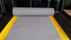 PRO-Onc - İzole Halı - Yalıtkan Paspas 5 Mm 40 Kv Gri (Sarı Dikkat Şeritli)
