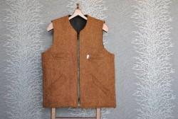 Kahverengi Kışlık Aba Yelek - Thumbnail
