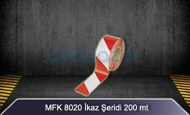 Kırmızı Beyaz İkaz Şeridi 200 mt MFK8020