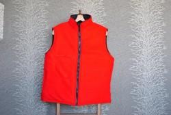 Lacivert Kırmızı İçi Polarlı Soft Yelek - Thumbnail