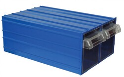 Mano Takım Çantası - Mano Mavi Plastik Çekmeceli Kutu