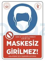 Propazar - Maskesiz Girilmez Yapıştırma Stickeri