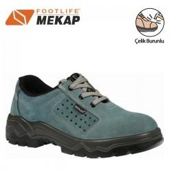 Mekap - Mekap 028 Yazlık Süet Çelik Burunlu İş Ayakkabısı
