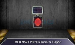 MFK - MFK 200lük Kırmızı Led Flaşör Güneş Enerjili 9521