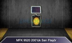 MFK - MFK 200lük Sarı Led Flaşör Güneş Enerjili 9520