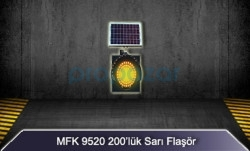 MFK - MFK 300lük Sarı Led Flaşör Güneş Enerjili 9530