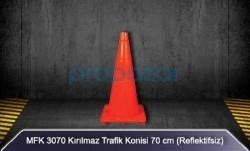 MFK - MFK 3070 70cm Kırılmaz Trafik Konisi Reflektifsiz