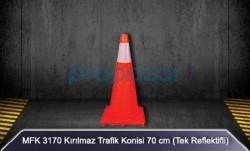 MFK - MFK 3170 70cm Kırılmaz Trafik Konisi Tek Reflektörlü