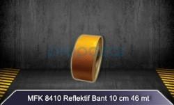 MFK - MFK 8410 Sarı Petekli Reflektif Bant - 46mt