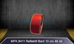 MFK - MFK 8411 Kırmızı Petekli Reflektif Bant - 46mt