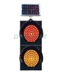MFK - Mfk 9533 Sarı Kırmızı Flaşör Güneş Enerjili ve Ledli Akülü 300lük
