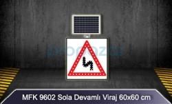 MFK - Mfk 9602 Sola Devamlı Viraj Ledli Güneş Enerjili Solar Yol Kenarı Tabelası