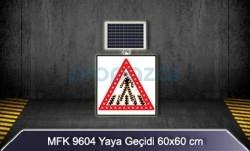 MFK - MFK 9604 Ledli Akülü Solar Güneş Enerjili Yaya Geçidi Tabelası