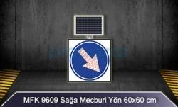 MFK - Mfk 9609 Ledli Güneş Enerjili Sağa Mecburi Yön Tabelası