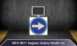 MFK - Mfk 9611 Ledli Güneş Enerjili Sağdan Gidiniz Tabelası