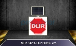 MFK - Mfk 9614 Ledli Güneş Enerjili Dur Tabelası