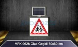 MFK - Mfk 9628 Led Işıklı Güneş Enerjili Okul Geçidi Tabelası